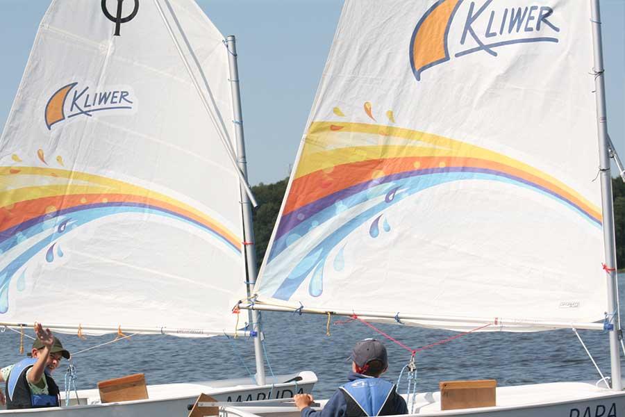 Obóz sekcji żeglarskiej UKS Kliwer